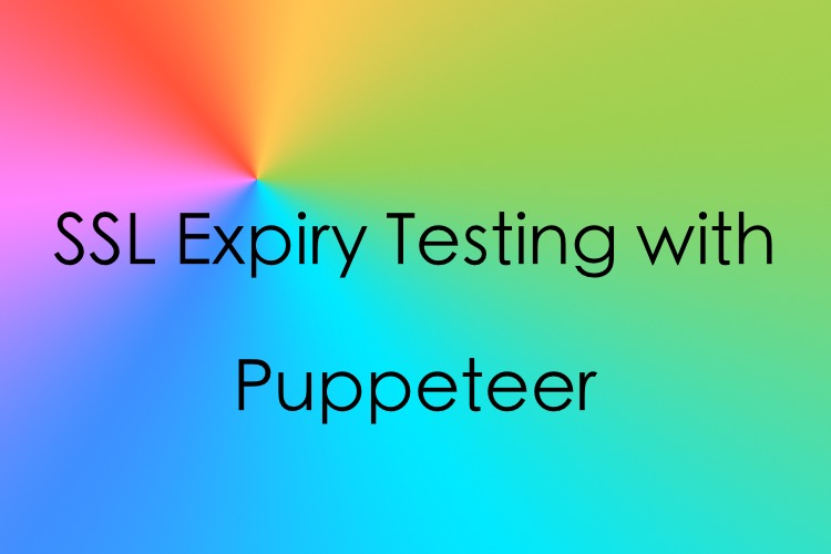 SSL Expiry testing with Puppeteer